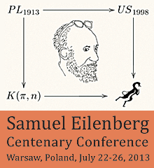 Samuel Eilenberg Centenary Conference, Warsaw, Poland, July 22-26, 2013