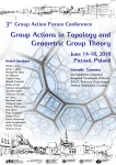 Group Actions in Topology and Geometric Group Theory