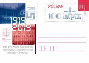 Kartka pocztowa na 100-lecie PTM
