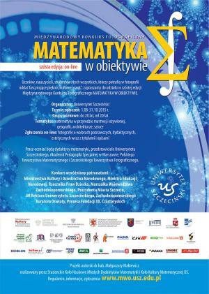 VI edycja międzynarodowego konkursu fotograficznego - Matematyka w obiektywie