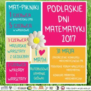 Podlaskie Dni Matematyki 2017, Białystok