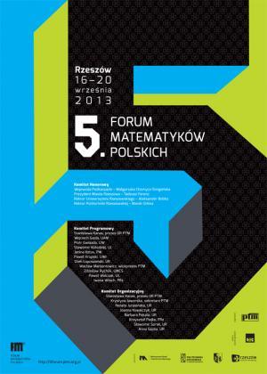 5. Forum Matematyków Polskich, Rzeszów, 16-20 września 2013