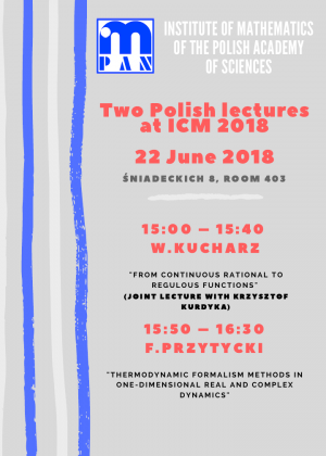 Sesja naukowa-Two Polish lectures at ICM 2018, 22 czerwca 2018, IM PAN, Warszawa