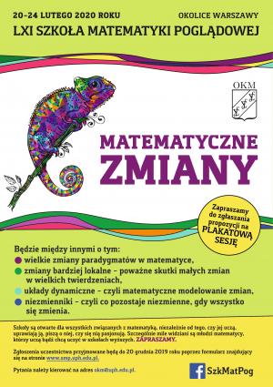61. Szkoła Matematyki Poglądowej, 20-24 lutego 2020, Wola Ducka k/Warszawy