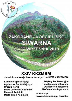 XXIV Krajowa Konferencja Zastosowań Matematyki w Biologii i Medycynie, 3-7 września 2018, Zakopane-Kościelisko
