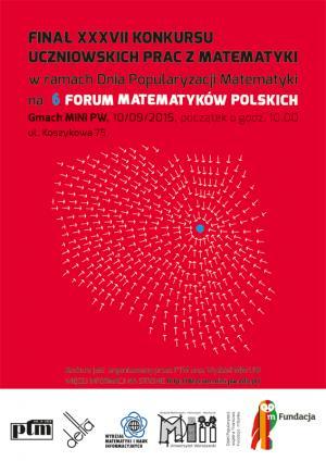 Finał  XXXVII Konkursu Uczniowskich Prac z Matematyki