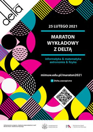 Maraton wykładowy z DELTĄ, 25 lutego 2021, 18:00-21:00, on-line na YouTube