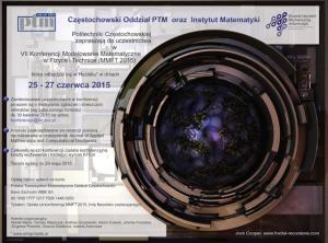 VII Konferencja Modelowanie Matematyczne w Fizyce i Technice (MMFT 2015)
