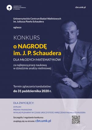 I edycja Konkursu o Nagrodę im. Juliusza Pawła Schaudera dla młodych matematyków rozstrzygnięta