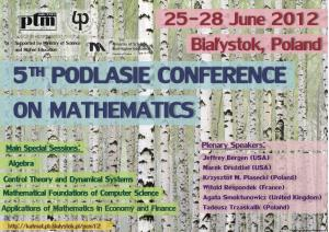 5th Podlasie Conference on Mathematics