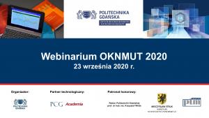 Webinarium OKNMUT, 23 września 2020, Gdańsk