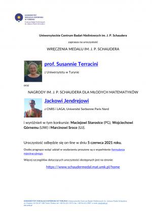 Uroczyste wręczenie Medalu im. J. P. Schaudera za 2020, 5 czerwca 2021, Toruń, on-line